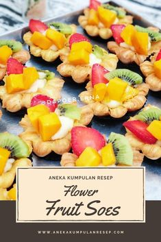 Flower Fruit Soes Fruit Salad, Protein, Snacks, Flowers, Pie, Food, Torte, Fruit Salads, Appetizers