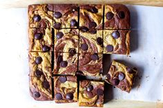 Crisp-edged, fudgy-centered peanut butter swirled brownies 100% guaranteed to improve all the days they last.