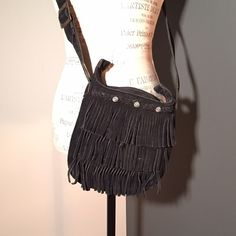 Minnetonka Fringe Crossbody Black Minnetonka fringe crossbody. Minnetonka Bags Crossbody Bags