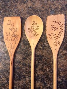 Wood burned spoons Wood burned spoons,Wood burned spoons Wood burned spoons What is wood burning ? The tree burnt by covering technique by transferring a picture on w. Wood Burning Tips, Wood Burning Techniques, Wood Burning Crafts, Wood Burning Patterns, Wooden Spoon Crafts, Wood Spoon, Wood Crafts, Diy Crafts, Ed Wood