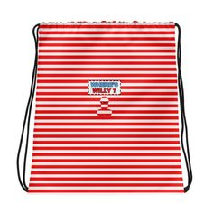 Where's Wally - Drawstring bag. Combine your love for vibrant prints and a sporty style with a cool drawstring bag.