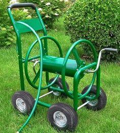 Garden Water Hose Reel CART Outdoor Planting 300Ft 4 Wheel Portable Yard Storage #GardenWaterHoseReelCart