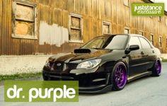 Dr. Purple #subaru #purple #workwheels #stanced #stance #slammed #lowered #low #juststance   See more about Slammed, Subaru and Purple.
