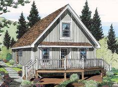 Cabin Cottage Elevation of Plan 35007