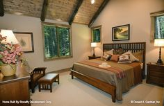 A rustic version of The Foxford plan 5022! #WeDesignDreams #DonGardnerArchitects