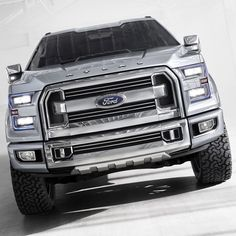 Ford Atlas concept: a preview of the 2015MY Ford F-150.   I know not black and lifted but a sweet, sweet truck - bring it to market Ford
