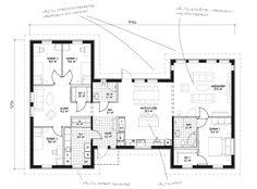 Det här är ett riktigt drömhus vad gäller såväl planlösning som estetik. Det stilrena utförandet gör att det passar fint i alla slags miljöer och h-formens vinklar ger såväl skyddade uteplatser som spännande rumsytor interiört. Huset präglas av stora, ljusa sällskapsytor, öppen planlösning och gott om förvaringsmöjligheter. Husets master bedroom har egen klädkammare och badrum och ligger avskilt från de tre mindre sovrummen. Här finns en stor hall och ett rejält klädvårdsutrymme vid entrén.