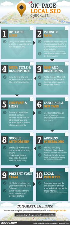 On-Page Local SEO: 10 Tips To Improve Your Local SEO [Infographic]  #localseo #googlelocal #localseotips