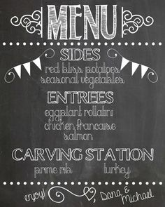 Create a chalkboard menu to let guests know what will be served at your wedding! Faux Chalkboard Menu – Handmade Is Better Create a chalkboard menu to let guests know… Wedding Menu Chalkboard, Chalk Menu, Blackboard Menu, Chalkboard Writing, Chalkboard Lettering, Chalkboard Designs, Chalkboard Clipart, Chalk Fonts, Chalkboard Ideas