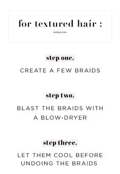 Super-easy tip for textured hair