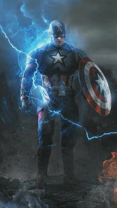 Captain with Thor Hammer and Shield iPhone Wallpap. - - Olivia Captain with Thor Hammer and Shield iPhone Wallpap. - Captain with Thor Hamme Iron Man Avengers, Marvel Avengers, Marvel Dc Comics, Hero Marvel, Films Marvel, Poster Marvel, Marvel Funny, Superhero Poster, Marvel Art