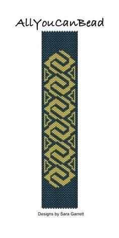 Peyote Bracelet Pattern 471 Bead Weaving INSTANT DOWNLOAD PDF by AllYouCanBead on Etsy