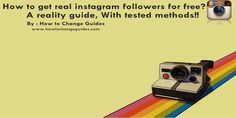 Cheat guide to get REAL #Instagram #followers for #free . Grab it #SocialMedia #LifeHack #Internet