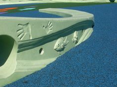 Pac Bell Stadium Art Wall #Concrete by Flying Turtle Cast Concrete