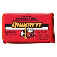 Quikrete - Fast Setting Concrete Mix 30kg - 100467 - Home Depot Canada