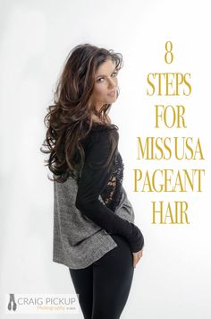 Miss USA Pageant Hair Tutorial. Because who doesn't want Miss USA hair? Pageant Tips, Beauty Pageant, Pageant Hair And Makeup, Hair Makeup, Miss Usa Hair, Pageant Questions, Pagent Hair, Prom Hair Tutorial, Queen Hair