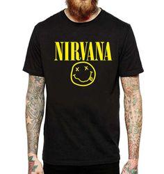 Nirvana Men T-Shirt Funny Kurt Cobain 80's  Rock by LIONTSHIRTS