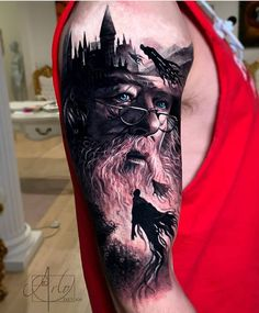 Harry Potter tattoos are all the rage--and let's be honest, they probably always. - Harry Potter tattoos are all the rage–and let's be honest, they probably always will be. Arm Sleeve Tattoos, Tattoo Sleeve Designs, Harry Potter Tattoos Sleeve, Always Harry Potter Tattoo, Harry Tattoos, Subtle Tattoos, Cool Tattoos, Tatoos, Wicked Tattoos