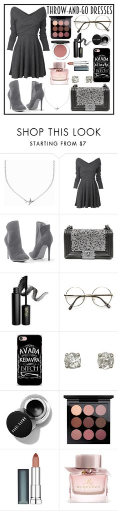 """""""Throw and Go Dress"""" by kitty-cat130 ❤ liked on Polyvore featuring Minnie Grace, Venus, Chanel, INIKA, Samsung, Maybelline and Burberry"""