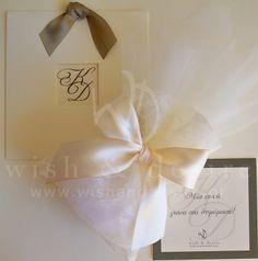 #γαμος προσκλητηρια και μπομπονιερες δαντελας εκρού