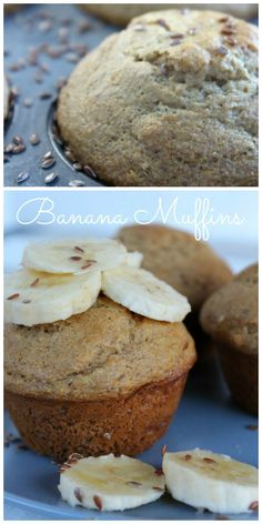 Healthy Banana Muffins are delicious breakfast! on www.cookingwithruthie.com