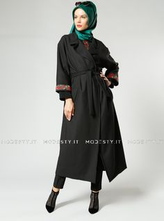 islamische kleidung fuer frauen mymodestystyle.com besuchen sie unsere shop #hijab #abayas #tuekische kleider #abendleider #islamischekleidung  Shawl Collar Loose Topcoat - Black - Refka - <p>Fabric Info:</p> <p>70% Polyester</p> <p>30% Cotton</p> <br> <p>Full Lined</p> <p>Weight: 1.08 kg</p> <p>Measures of 38 size:</p> <p>Height: 137 cm</p> <p>Bust: 106 cm</p> <p>Waist: 106 cm</p> <p>Hips: 116 cm</p> - SKU: 223375. Buy now at…