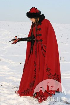 Medieval Fantasy Wool Winter Coat Queen Of Shamakhan by armstreet, $580.00