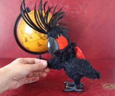 Black King the Palm cockatoo parrot bird By Alina Biliakova - Bear Pile