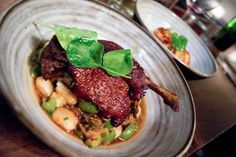 Red Wine Braised Liberty Farms Duck Leg - Butter Beans, Escarole, Castelvetrano Olive   A photo of Frances   Added by Pretty Hungry