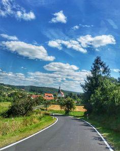 The winding road of summer.  #EnjoyGermanNature #GermanyChallenge #TandemChallenge