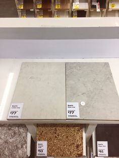 Quartz Countertops: Part One - Layers and Layers of Paint Ikea Quartz Countertop, Ikea Kitchen Countertops, Grey Countertops, Kitchen Worktops, Kitchen Tops, Kitchen White, Noble Grey Caesarstone, Deco Paint