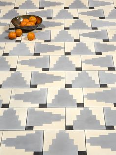 Dubbed the Native collection, Commune Design's new cement tiles for Exquisite Surfaces take inspiration from Native American and Scandinavian textile and p Concrete Tiles, Stone Tiles, Floor Patterns, Textures Patterns, Geometric Patterns, Surface Design, Interior Exterior, Interior Design, Arquitetura