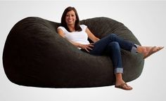 The Fuf Memory Foam Oversized Beanbag Chair, $114.99