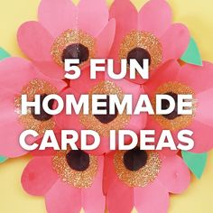5 Fun Homemade Card Ideas #creative #DIY #gift #craft #card