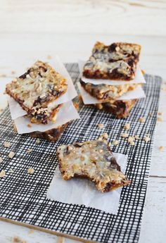 coconut toffee bars.