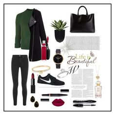 """springbreeze"" by sweetangel29 ❤ liked on Polyvore featuring Topshop, Nixon, NIKE, Brewster Home Fashions, Acne Studios, Chloé, Michael Kors, MAC Cosmetics, NARS Cosmetics and Lancôme"