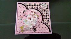 Pink Daisies Teardrop Pyramid Card Mini Kit by Diane Christie