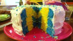 Michigan cake (with a hidden M inside!)