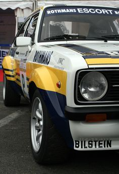 Ford Escort Rs Rothmans Classic Cars British, Ford Classic Cars, Ford Rs, Car Ford, Ford Capri, Ford Motorsport, Old Fords, Ford Escort, Futuristic Cars