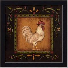 French rooster decor for kitchen