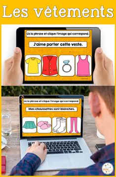 Cartes numériques, digitales et auto-correctrices. Lis la phrase et choisis la bonne image. French digital task cards to read the sentence and pick the corresponding image. Ideal for french immersion and distance learning. French Teaching Resources, Teaching French, Teaching Spanish, Teacher Resources, French Lessons, Spanish Lessons, Bilingual Classroom, Core French, Inquiry Based Learning