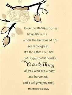 Burdens...