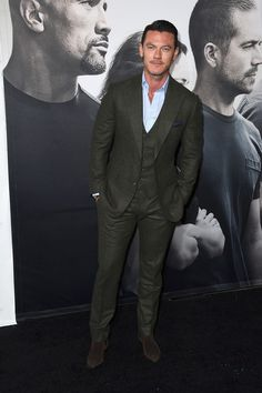 """Luke Evans attends Universal Pictures' """"Furious 7"""" premiere at TCL Chinese Theatre on April 1, 2015 in Hollywood, California."""