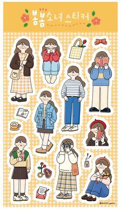 Stickers Kawaii, Anime Stickers, Cute Stickers, Free Printable Stickers, Journal Stickers, Scrapbook Stickers, Planner Stickers, Printable Scrapbook Paper, 365 Kawaii