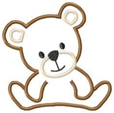 Teddy Bear Machine Embroidery Applique Design. $4.00, via Etsy.