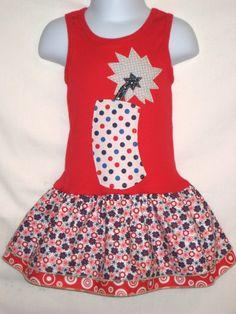 Fourth of July Girls Applique DressThe Perfect by magicalscraps, $44.00