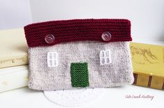 Knitted bag English cottage bag unique bag by CuteLambKnitting