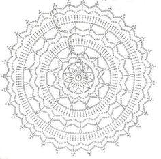 Mandala via fb dreamcatcher crochet, crochet mandalas, rug yarn, doily rug, Free Crochet Doily Patterns, Crochet Doily Diagram, Crochet Pillow Pattern, Crochet Motifs, Crochet Doilies, Free Pattern, Doily Rug, Mandala Rug, Freeform Crochet