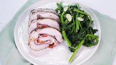 Salami and Provolone Stuffed Pork Loin with Sauteed Broccoli Rabe Recipe   The Chew - ABC.com