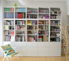 Colourful books in a simple white BESTÅ bookcase | Diana's light-filled living room in Italy | live from IKEA FAMILY